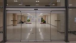 انواع فریم های درب شیشه  ای اتوماتیک