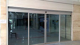 نصب درب اتوماتیک automatic sliding glass door